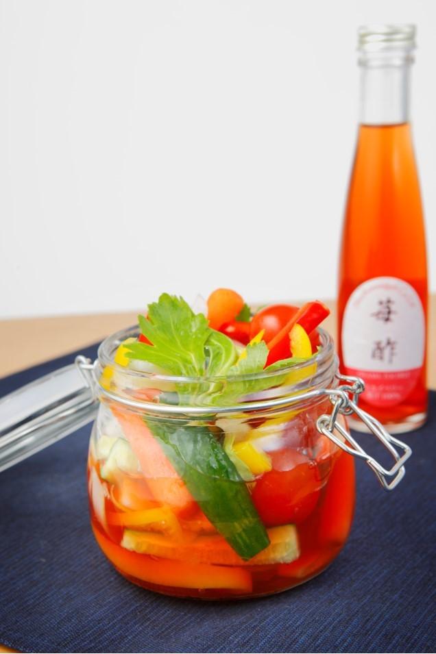 【レシピ】苺酢を使った栄養満点ピクルス
