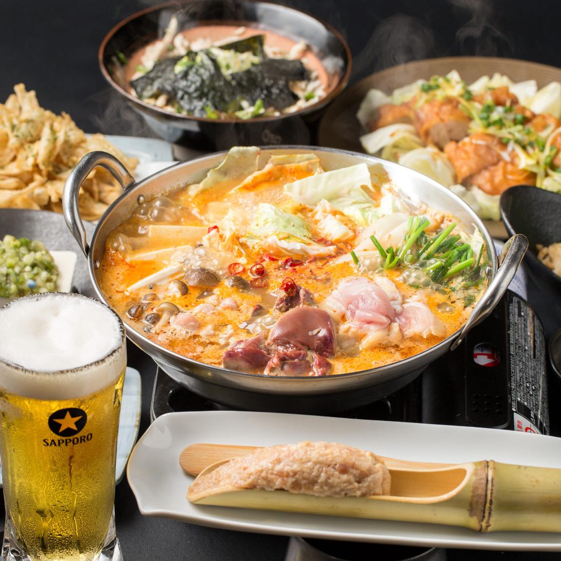 コース料理は2,980円〜ご用意!国産鶏を満喫出来ます!