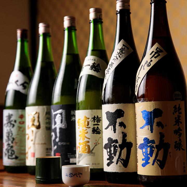こだわりの千葉県産の地酒は10種類以上