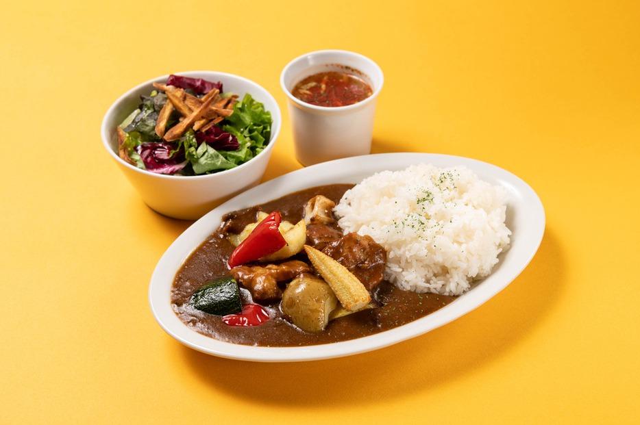 ごろごろ野菜のチキンカレー  チキンと野菜がごろごろ入った欧風カレー!